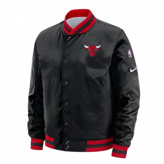 CHICAGO BULLS REV COURTSIDE BOMBER JACKET
