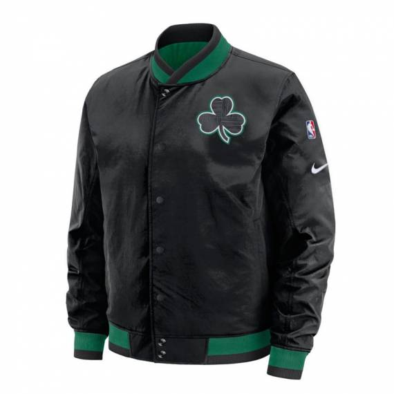 BOSTON CELTICS REV COURTSIDE BOMBER JACKET