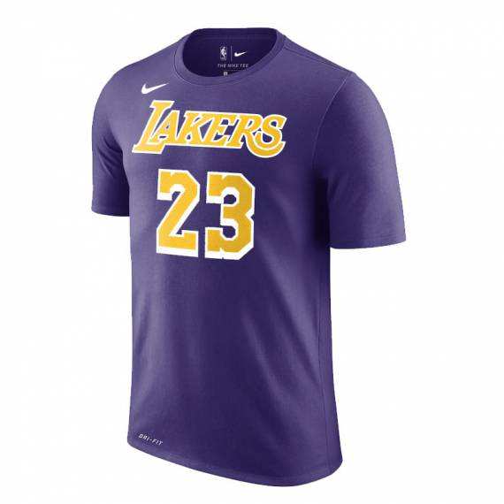 LEBRON JAMES LAKERS N&N TEE PURPLE