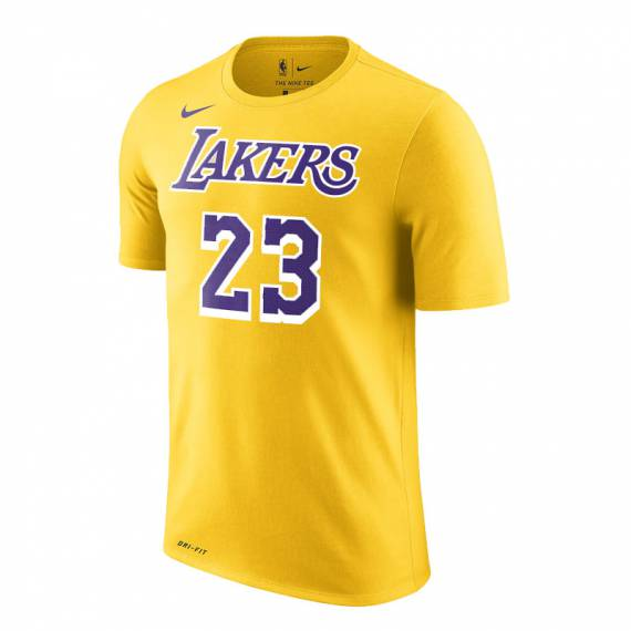 LEBRON JAMES LAKERS N&N TEE YELLOW