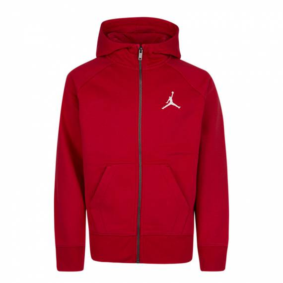 JUMPMAN FLEECE FZ HOODIE RED (JUNIOR)