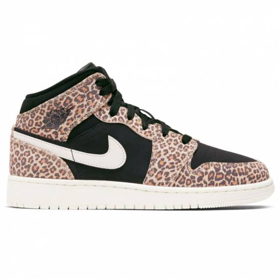 AIR JORDAN 1 MID SE LEOPARD (JUNIOR)
