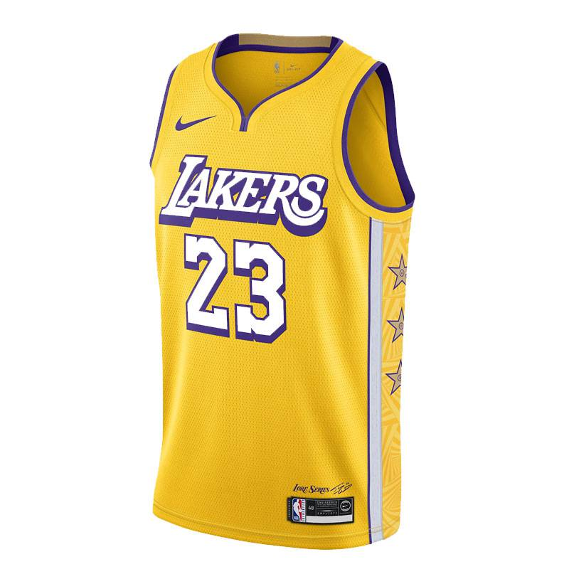 LEBRON JAMES LOS ANGELES LAKERS CITY EDITION SWINGMAN JERSEY 2019