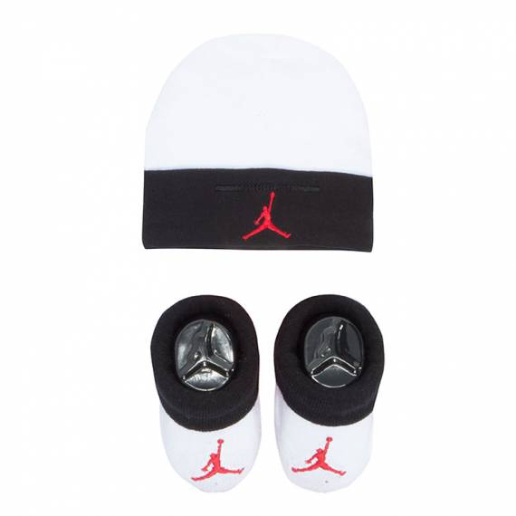 JORDAN HAT/BOOTIE SET 2PC BWHITE (BEBÉ)