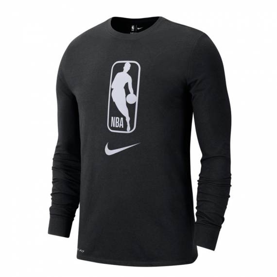 NBA ICONIC TEE LS BLACK