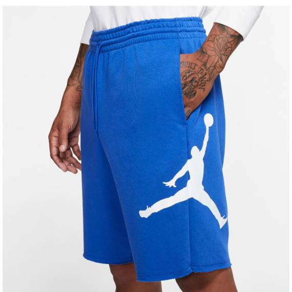 JORDAN JUMPMAN AIR FLEECE SHORT BLUE