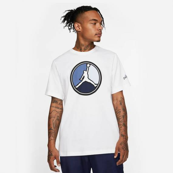 JORDAN REMASTERED HBR TEE WHITE