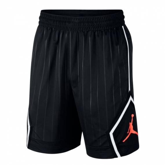 JORDAN DIAMOND STRIPED SHORT BLACK