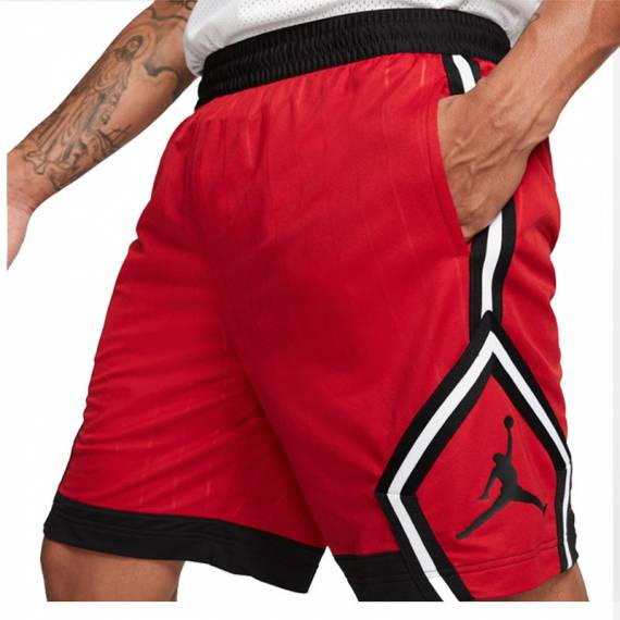 JORDAN DIAMOND STRIPED SHORT RED