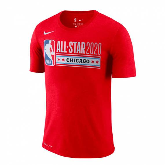 ALL STAR 2020 CHICAGO LOGO TEE RED