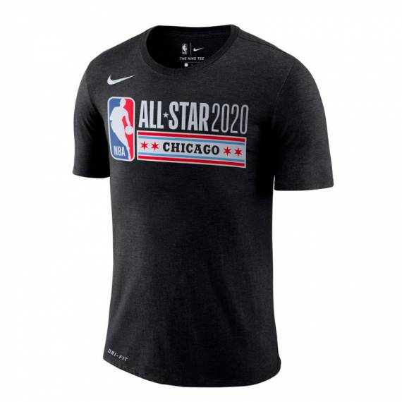 ALL STAR 2020 CHICAGO LOGO TEE BLACK