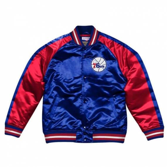 PHILADELPHIA 76ERS COLOR BLOCK SATIN JACKET