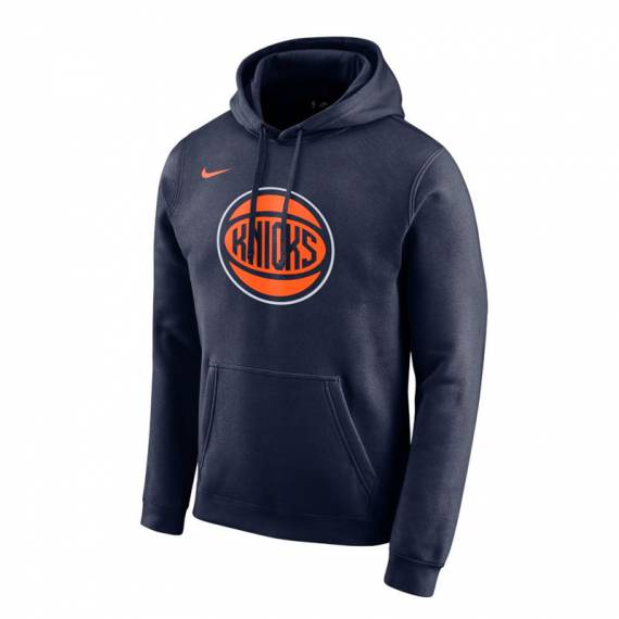 NEW YORK KNICKS LOGO HOODIE NAVY