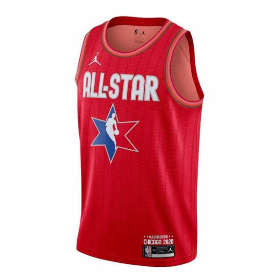 LEBRON JAMES ALL STAR 2020 SWINGMAN JERSEY RED