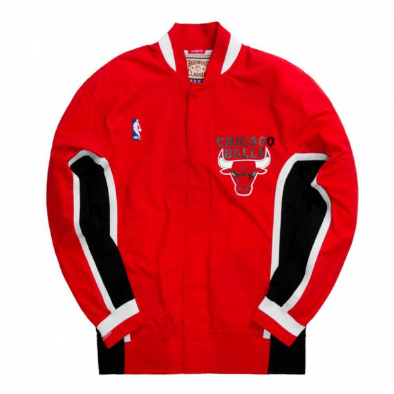 CHICAGO BULLS AUTHENTIC WARM UP JACKET RED