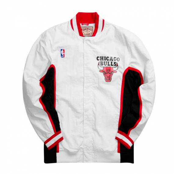 CHICAGO BULLS AUTHENTIC WARM UP JACKET WHITE