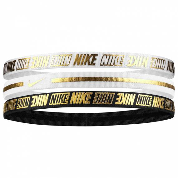NIKE METALLIC HEADBANDS 3PK 2.0 BWG