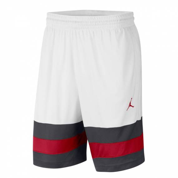 JORDAN JUMPMAN BBALL SHORT WHITE
