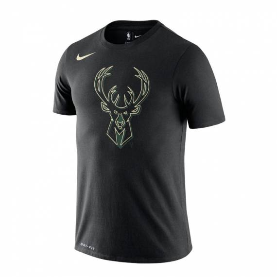 MILWAUKEE BUCKS LOGO TEE BLACK 2020