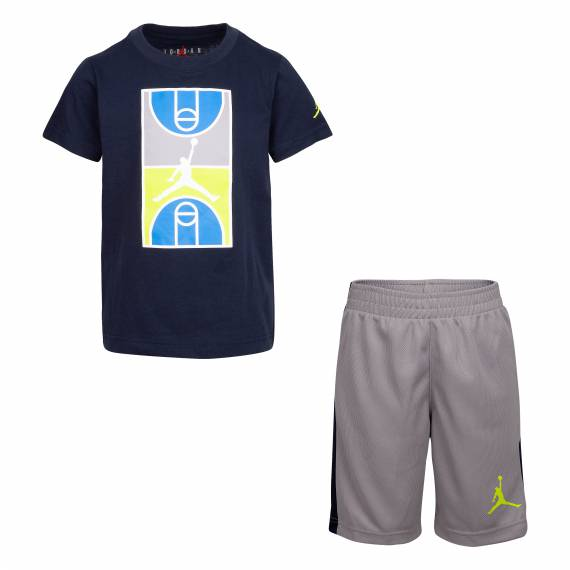 JORDAN COURTGRAPHIC TEE & SHORT SET NAVY
