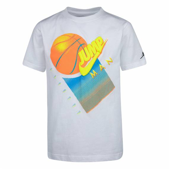 JUMPMAN GRAPHIC TEE WHITE (JUNIOR)