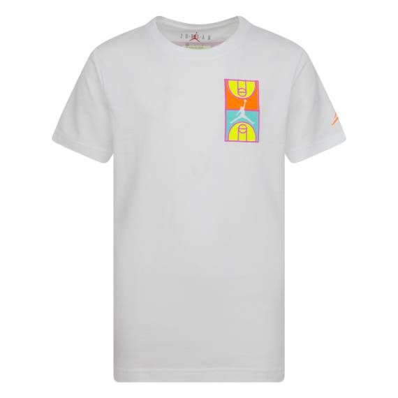 JORDAN GRAPHIC CREW TEE WHITE (JUNIOR)