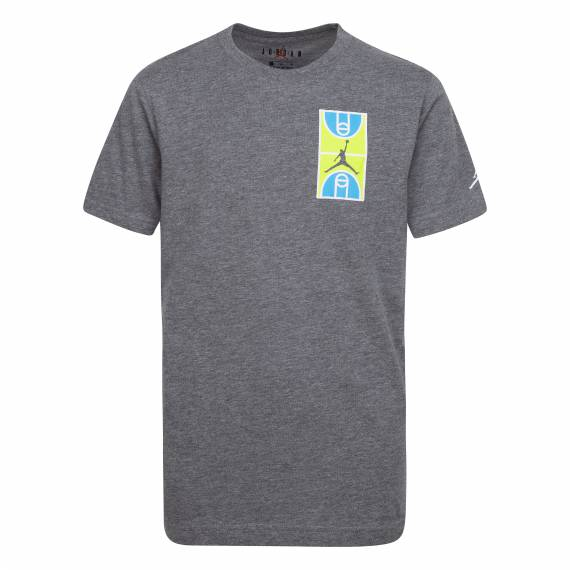JORDAN GRAPHIC CREW TEE GREY (JUNIOR)