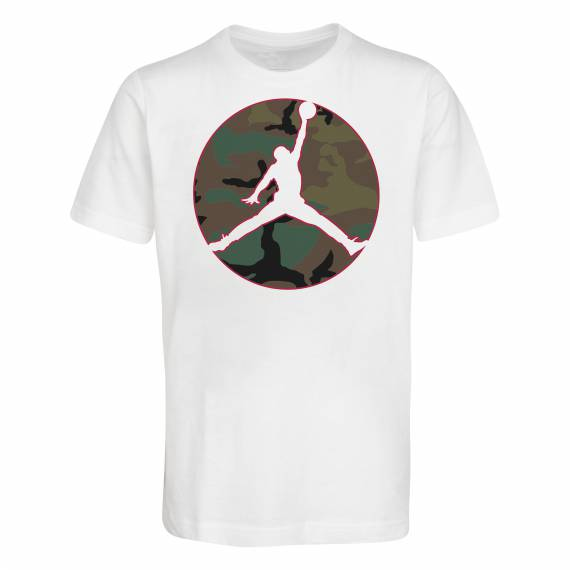 JUMPMAN CAMO TEE WHITE (JUNIOR)
