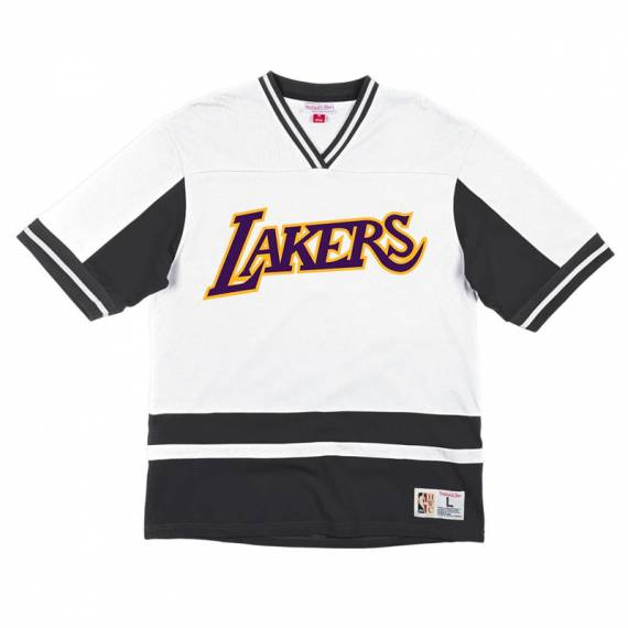 LOS ANGELES LAKERS FINAL SECONDS V-NECK TEE WHITE