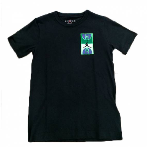 JORDAN GRAPHIC CREW TEE BLACK (JUNIOR)
