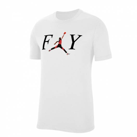 JORDAN MJ FLY CREW TEE WHITE