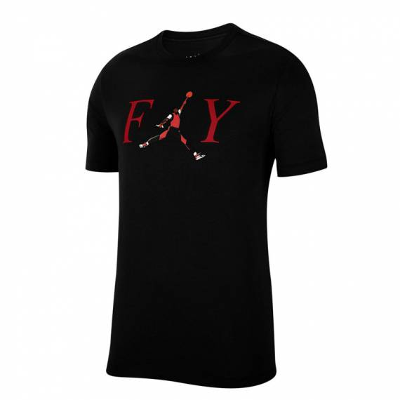 JORDAN MJ FLY CREW TEE BLACK