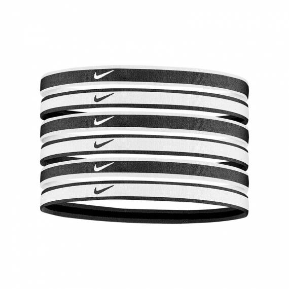 NIKE PRINTED HEADBANDS B/W 6PACK