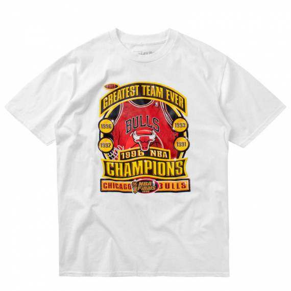 LAST DANCE BULLS 96 CHAMPS TEE WHITE