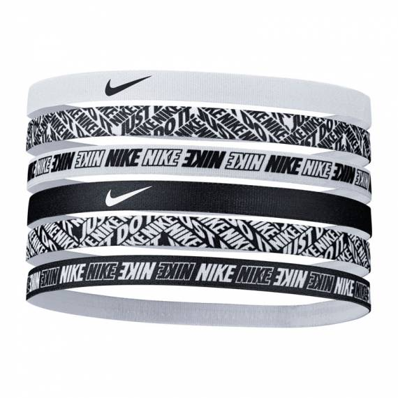 NIKE TIPPED SPORT HEADBANDS 6PK