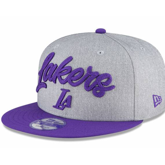 LOS ANGELES LAKERS NBA DRAFT 2020 9FIFTY GREY