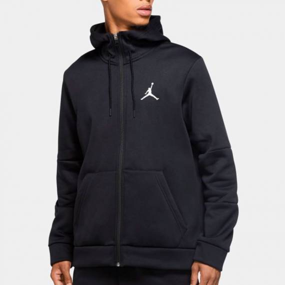 JORDAN AIR THERMA FLEECE HOODIE FZ BLACK