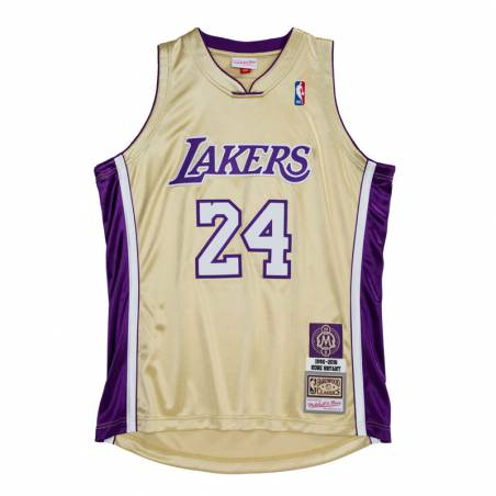 HALL OF FAME AUTHENTIC KOBE BRYANT LAKERS GOLD