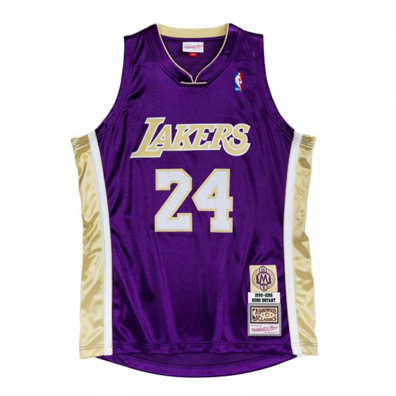HALL OF FAME AUTHENTIC KOBE BRYANT LAKERS PURPLE