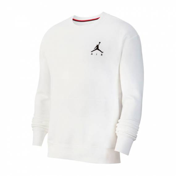 JORDAN JUMPMAN AIR FLEECE CREW WHITE
