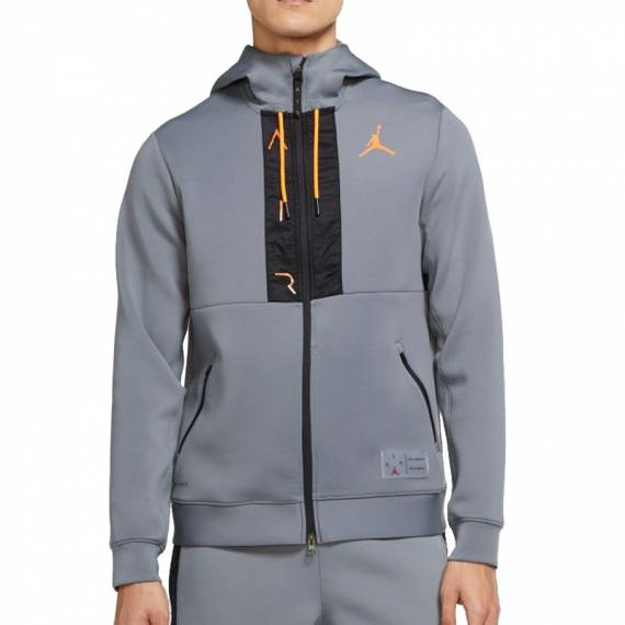 JORDAN AIR FLEECE FZ JACKET GREY