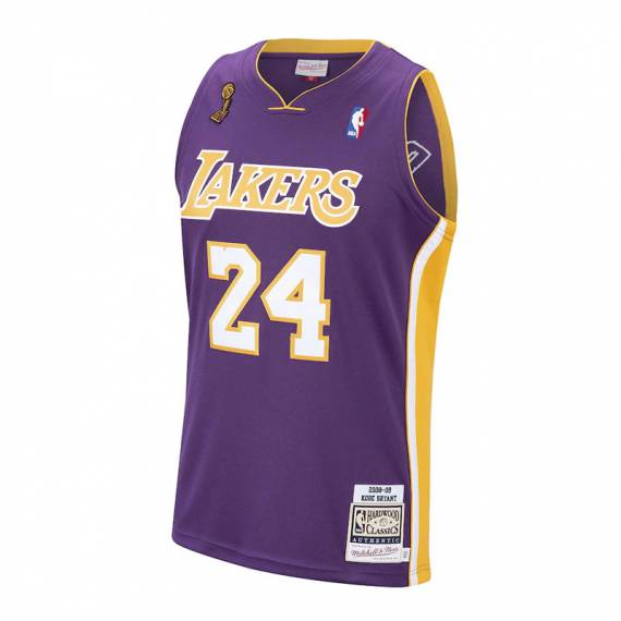 AUTHENTIC JERSEY KOBE BRYANT 24 LAKERS '08 PURPLE