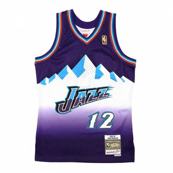 JOHN STOCKTON UTAH JAZZ AWAY 96-97