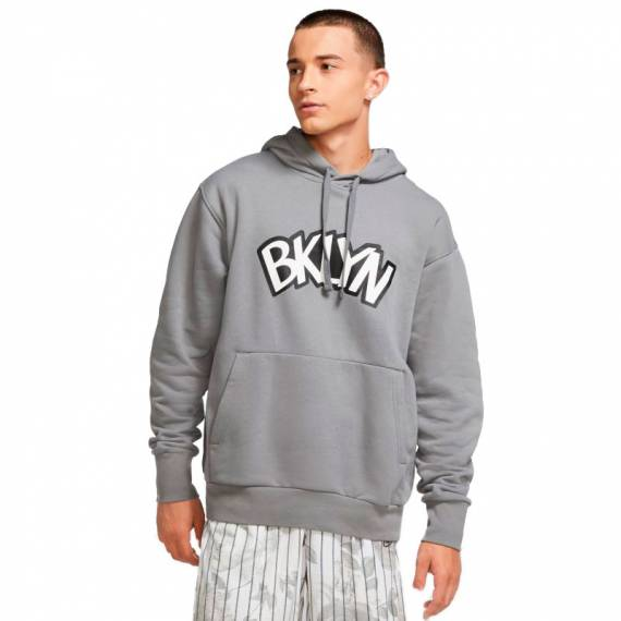 BROOKLYN NETS STATEMENT EDITION FLEECE HOODIE 2021
