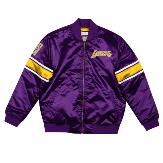 HEAVYWEIGHT SATIN JACKET LAKERS