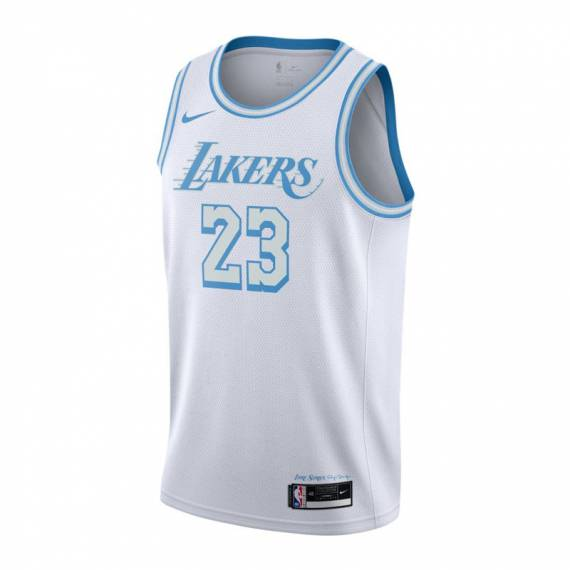 LEBRON JAMES LOS ANGELES LAKERS CITY EDITION SWINGMAN JERSEY 2021 (JUNIOR)