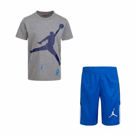 JORDAN JUMPING BIG AIR SET BLUE GREY (3-7 años)