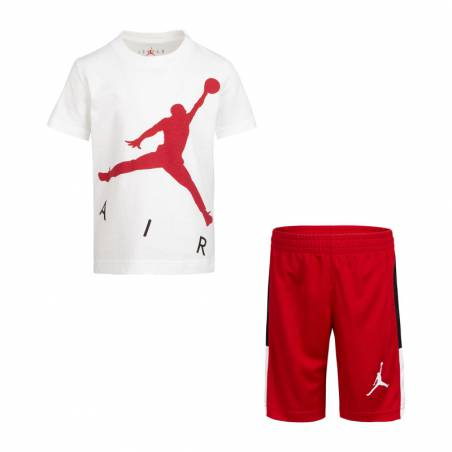 JORDAN JUMPING BIG AIR SET WHITE RED (3-7 años)