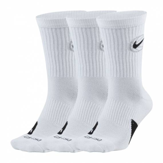 NIKE CREW EVERYDAY BBALL WHITE (3 PACK)