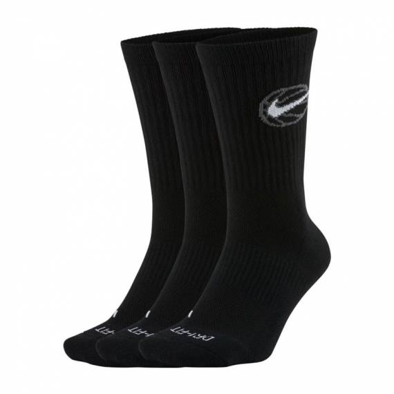 NIKE CREW EVERYDAY BBALL BLACK (3 PACK)
